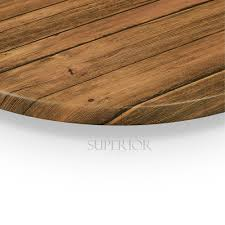 werzalit distressed walnut round outdoor dining table top 42