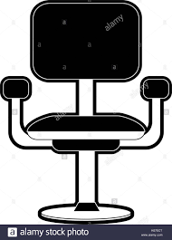 office chair with wheels. office chair with wheels icon image - stock
