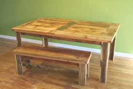 Bench Style Kitchen Tables Farm Style Kitchen Table Images About Dining Room Ideas On