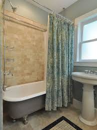 painting clawfoot tub to beautify your bathroom improvement interesting painting clawfoot tub shower combo with