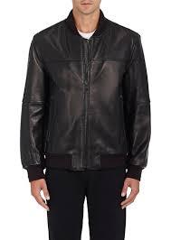 barneys new york men s leather baseball jacket