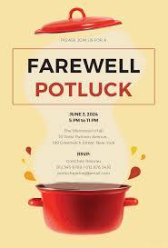 Farewell Invitation Template Free Farewell Potluck Invitation Template In MS Word Publisher 23