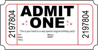 Birthday Party Invitation Card Template Free Free Carnival Ticket Invitation Template Download Free Clip Art