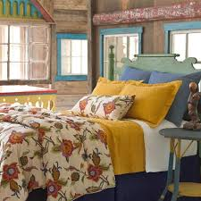 pineconehill alford duvet cover and shams a saturated exotic fl crewelwork pattern gets