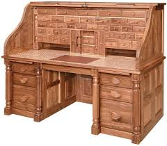 amish president s style roll top desk