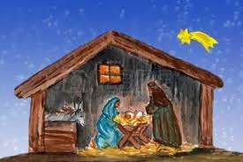 Image result for caricature of  the baby Jesus asleep in His crib