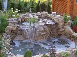 beautiful garden pond fountain plus small waterful