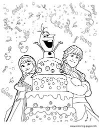 Small Picture Kristoff Anna Olaf Surprise Birthday Colouring Page Coloring Pages