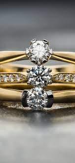 Diamonds rings, gold 1080x1920 iPhone 8 ...