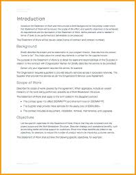 Consulting Statement Of Work Template Sow Contract Agreement Free ...