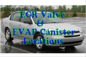 how to find the smog components on a Chevy Malibu EGR & EVAP ...