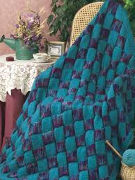 Knitted Afghan Patterns Fascinating Entrelac Jewels Afghan Knitting Free Patterns