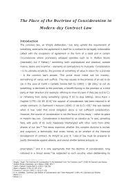 essay the place of the doctrine of consideration in modern day essay the place of the doctrine of consideration in modern day contract law mll111 contract studocu