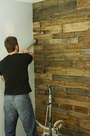 made from pallets accent wall