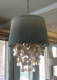 chandelier extraordinary shell chandeliers seashell chandelier diy drum chandelier with shell curtain gray wall