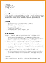 Sample Painter Resume Doing A Resume Doing A Awesome Professional Painter Resume Sample