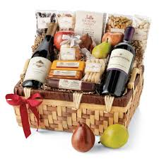 hickory holiday celebration gift basket hickory farms