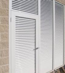 Aluminum Air Intake Vent  Cool My GarageAluminum Louvered Exterior Doors
