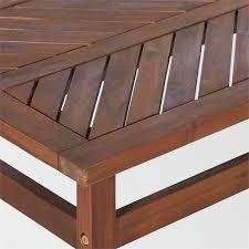 outdoor patio wood coffee table dark