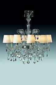traditional chandelier glass chrome incandescent miami