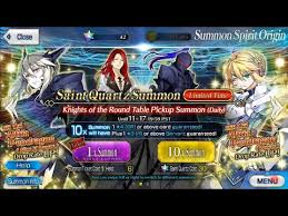 fate go shorts ver e 42 knights of the round table pickup summon artoria lancer alter rate up
