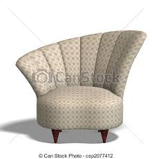 comfy chair drawing.  Comfy Decorative Modern Chair  Csp2077412 On Comfy Chair Drawing R
