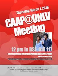 caap unlv meeting march 2018 council
