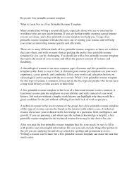 Free Online Resume Templates Printable Resume Builder Free Online Printable with regard to Free Printable 38