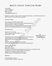 Quality Resume Samples Food Quality Control Technician Resume Sample Resume For Study 46