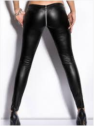 2019 whole y zipper open crotch pencil pants faux leather leggings gothic pencil hot pants capris club wear fx1020 from fenghuangmu