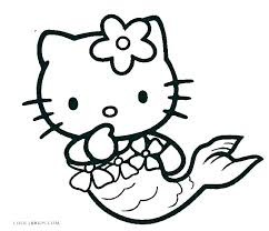 Kitty Coloring Sheets Free Hello Pages Color Page Online Fre Seaahco