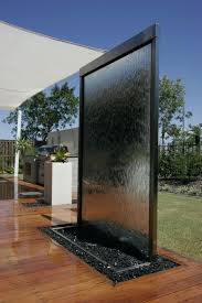 here are water wall feature minimalist stone outdoor mirrored glass water wall mirror 5 curved wave