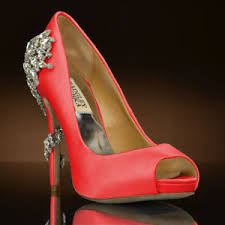 coral wedding shoes. Royal by Badgley Mischka Wedding Shoes at My Glass Slipper