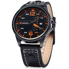 curren 8224 men quartz watch day date display black in men s curren 8224 men quartz watch day date display black