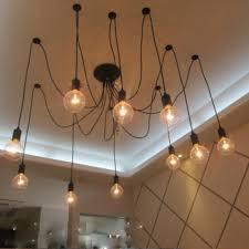 diy edison light chandelier vintage edison font b chandelier b font classic ancient light e27 10pcs cord font b diy ideas