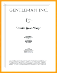 13 Example Of A Cover Page For A Business Plan Cover Letter