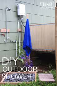 planning the outdoor shower area