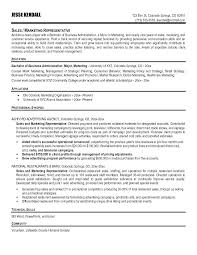 Basic Resume Objectives Example Of Sales Resume Marketing Resume