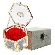 senarai harga romantic valentine s day preserved flower handmade unwithered eternal rose with glass case and outer