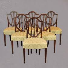 hepplewhite shield dining chairs set: antique dining chairs set of  mahogany shield back hepplewhite revival cth
