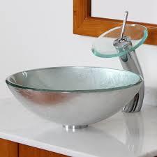 elite 1308 f22tc modern tempered glass bathroom vessel sink with silver wrinkles bathroom sinks stone sink kitchen sink stainless steelsink bathroom