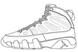 Small Picture Jordan Shoe Coloring Page Air Jordan Coloring Home