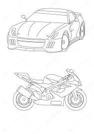 Kleurplaten Voor Kinderen Auto S Stockfoto Mortazza 40086657