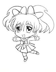 Chibi Manga Coloring Pages Coloringstar