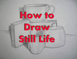 how to set up a still life and plete a still life drawing tutorial
