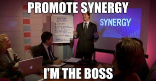 Promote synergy; I'm the boss - Deficient Memes via Relatably.com
