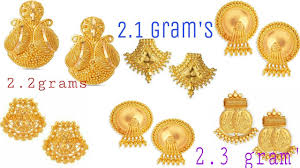 Gold New Design Tops New Stlylish Designs Gold Tops Earrings Designs 2018 Youtube