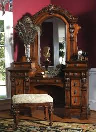 antique vanity with mirror table dresser for