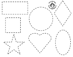 Basic Shapes Printable Coloring Pages For Adults Pdf Tracing Heart