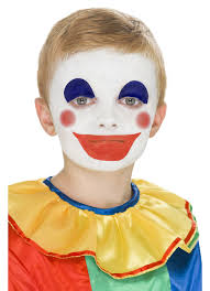 makeup with image with step by step clown cakeup with clown flag design face painting